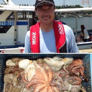 タコ釣り初挑戦の釣果