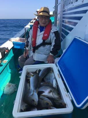 人工魚礁のイサキ釣り!