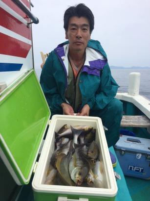 人工魚礁のイサギ釣り!