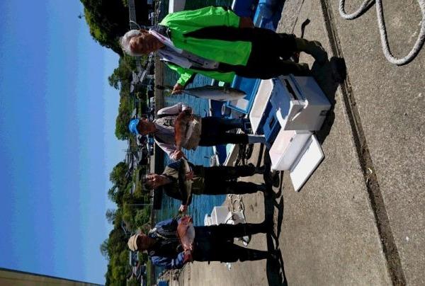 釣果5月4日午前便 ブリ2本 真鯛75センチまで16枚 ハマチ2本