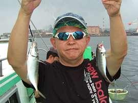 2017年8月5日(土)東京湾でアジが好釣でした
