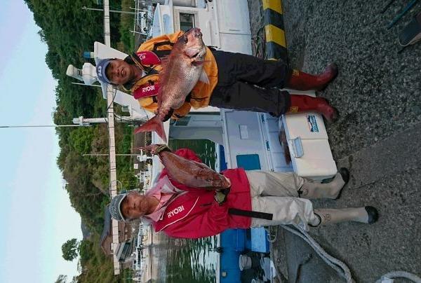 釣果5月4日午後便 真鯛75センチ2本と60センチ6本