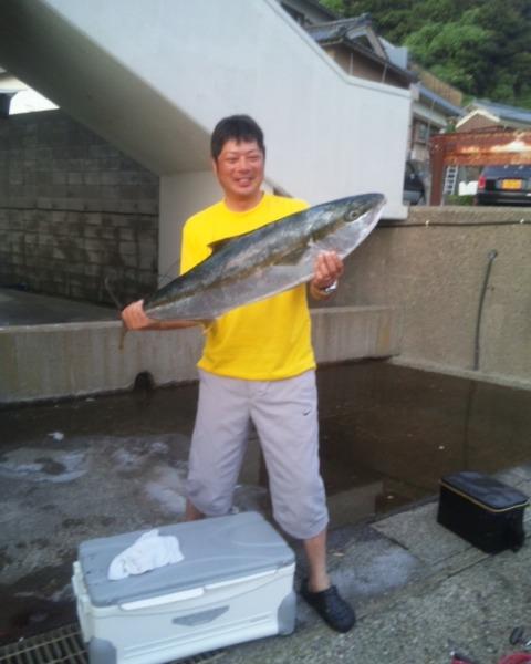 ヒラマサ108cm 2011年8月4日 玄達瀬で完全ふかせ釣り 過去の記録ですけど