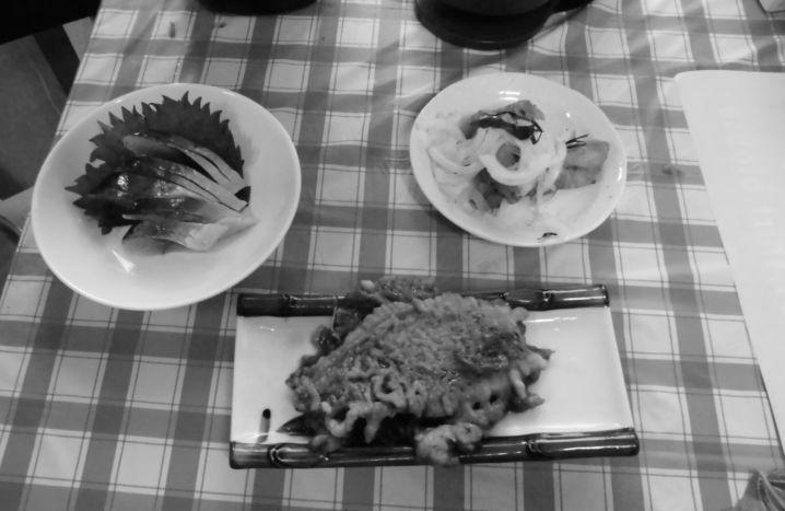 イサキの照り煮、チダイとアジの南蛮、シメサバにしてみました(^^…