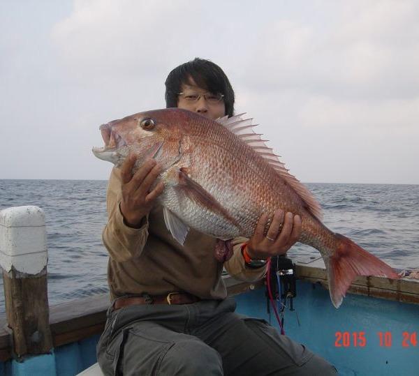 鯛釣りました
