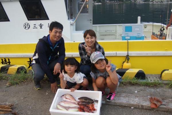 8/23 夏休み初船釣りの喜岡様ファミリー♪テンヤ午後便♪