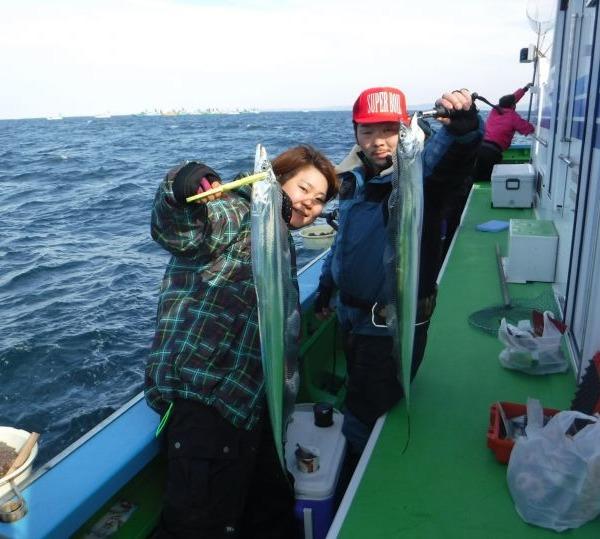久里浜沖のタチウオです