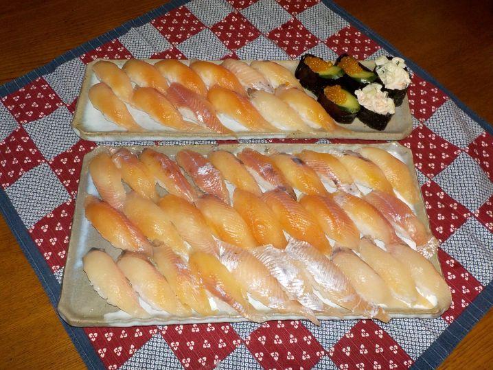 尺上アマゴのお寿司最高!!