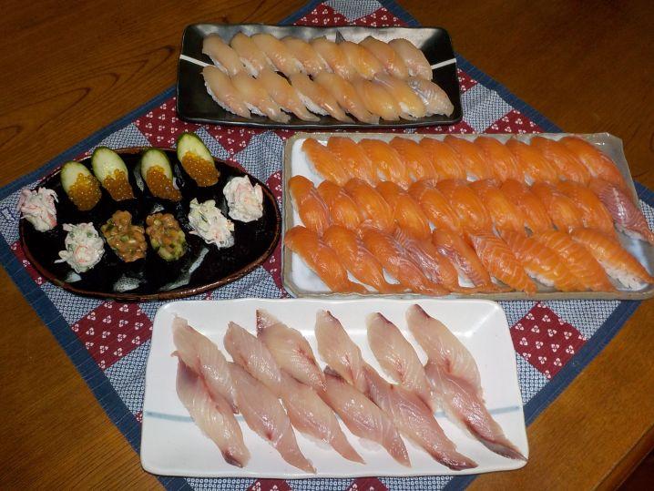 今年最後の渓魚のお寿司にして美味しく頂きました。