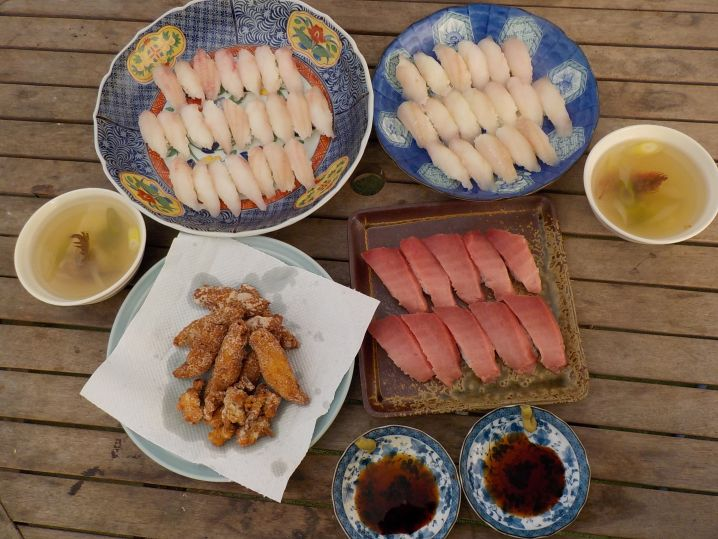 メバルとカサゴはお寿司、空揚げ、潮汁にして堪能!! モチコリで…