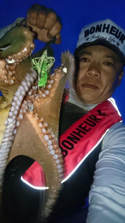 大満足な🐙にBONHEURライジャケ→これからの蛸狩りが楽しみで…