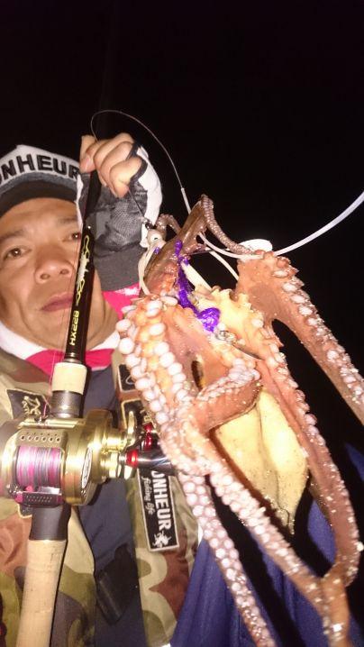 今夜も…大満足(^^)v 自身が率いる‼蛸狩人クラブレジェンド…
