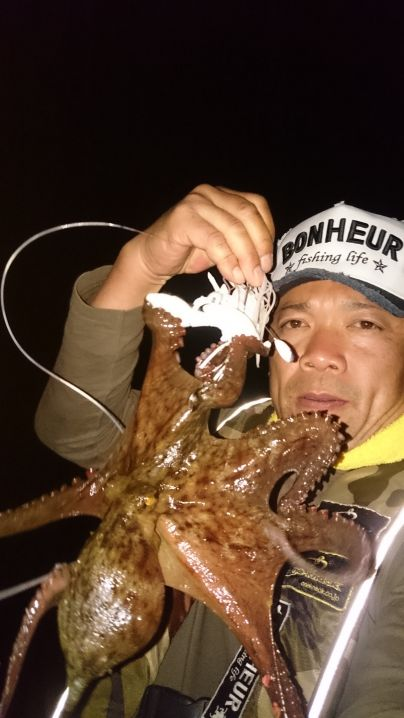 海藻場から誘い出した1蛸…価値あります🎵 ワンナック販売デビル…