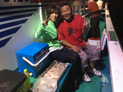 最終便 赤イカ釣り!