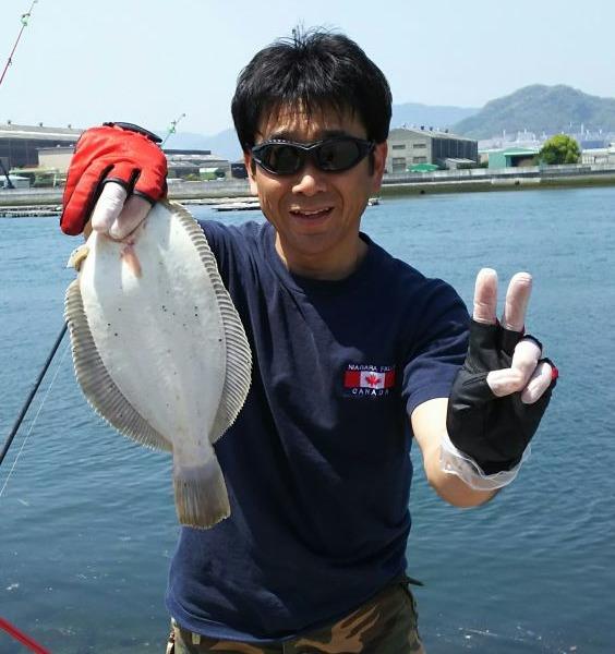 ひさびさの釣りで 良型カレイ❗