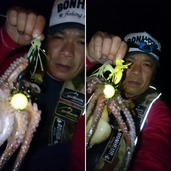 防波堤…カケアガリ↑パラシュートで2蛸‼連続get✨ ワンナッ…