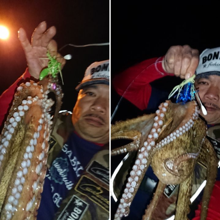 大満足な2蛸です(^-^) やっぱり🐙釣り楽しいです(^-^)…