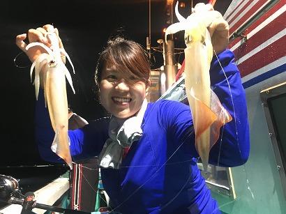 赤イカ釣り!!