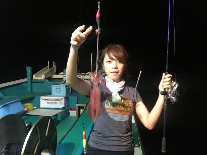 赤イカ釣り