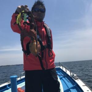 神奈川佐島の岩礁帯でボートオクトパッシング