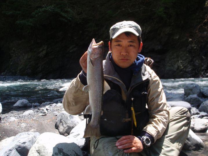 寸又川水系で釣った大岩魚!