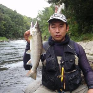 以前に狩野川で釣った40アマゴを魚拓絵にしました!!