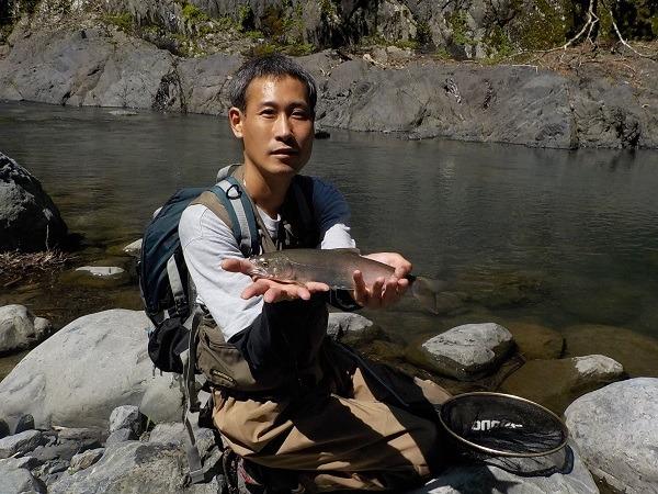 釣友の高倉君との大井川水系への釣行