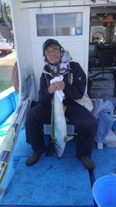 ヒラマサ92センチ、完全ふかせ釣りです