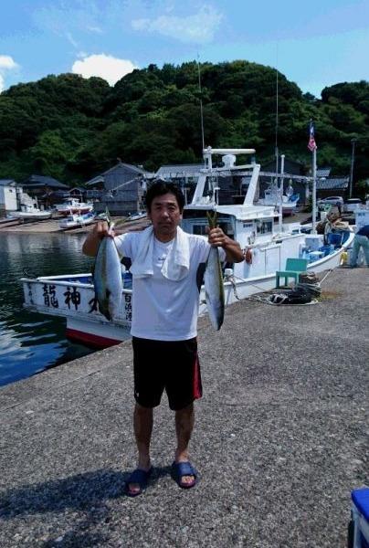 釣果9月4日午前便 ヒラマサ9本、ワラサ1本、真鯛1枚