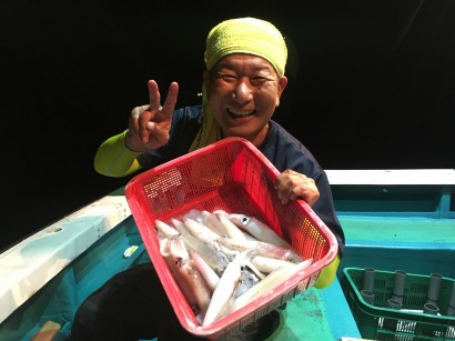 赤イカ釣り!